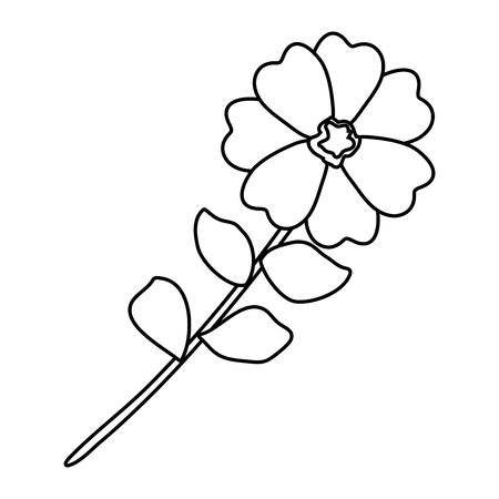 flower with leafs icon vector illustration design Archivio Fotografico - 113896406