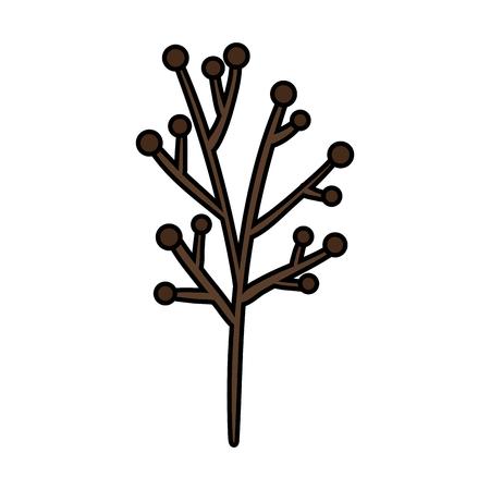 branch plant dry icon vector illustration design
