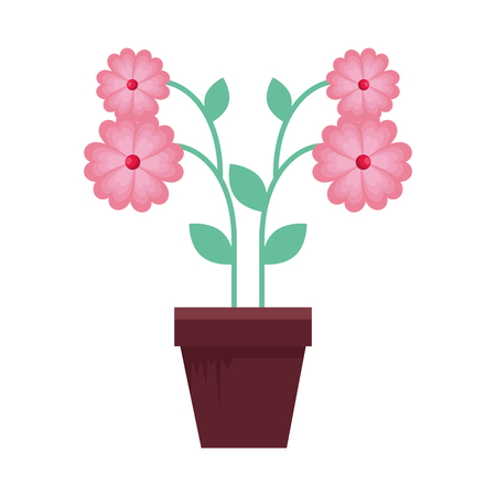 flower in pot icon vector illustration design