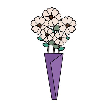 bouquet of flowers icon vector illustration design Ilustrace