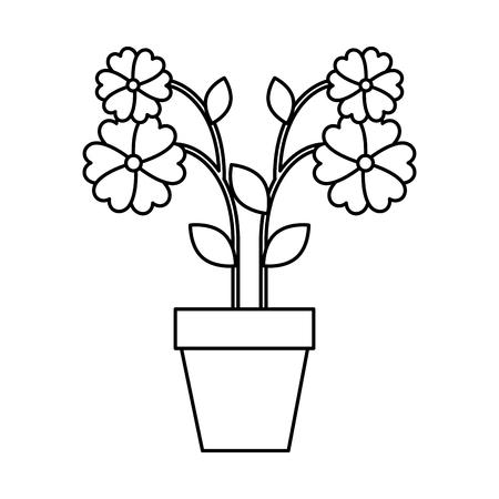 flower in pot icon vector illustration design
