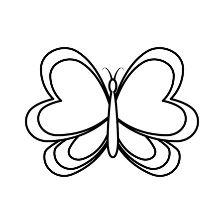 cute butterfly decorative icon vector illustration design Banque d'images - 126773736