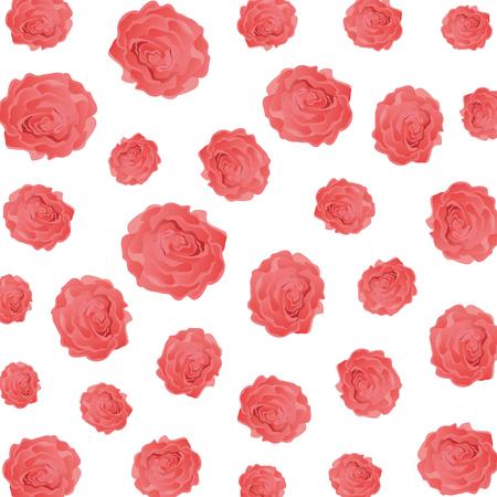 beauty roses pattern background vector illustration design Illustration
