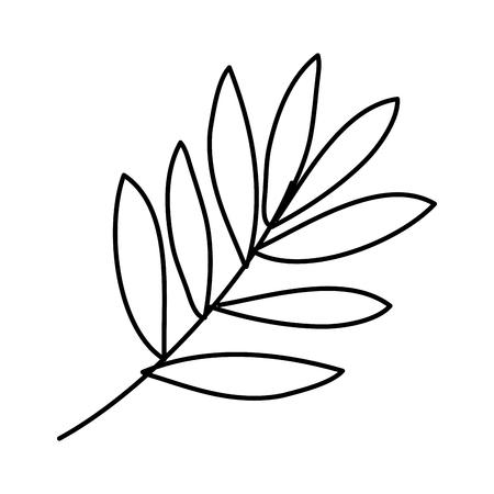 Zweig mit Blättern Symbol Vektor Illustration Design Vektorgrafik