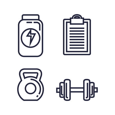 fitness lifestyle set icons vector illustration design