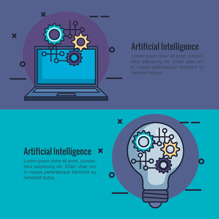 artificial intelligence infographic icons vector illustration design