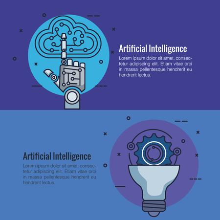 Künstliche Intelligenz Infografik Icons Vector Illustration Design