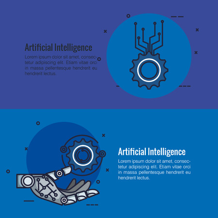 artificial intelligence infographic icons vector illustration design Stok Fotoğraf - 113924286