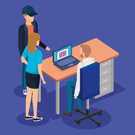 business people in the workplace vector illustration design