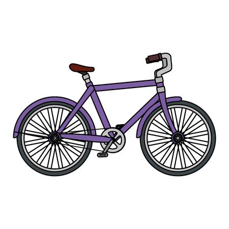 bicicletta da corsa icona isolata illustrazione vettoriale design
