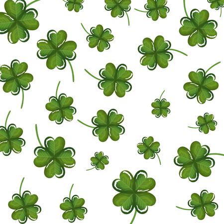 clovers leafs pattern background vector illustration design