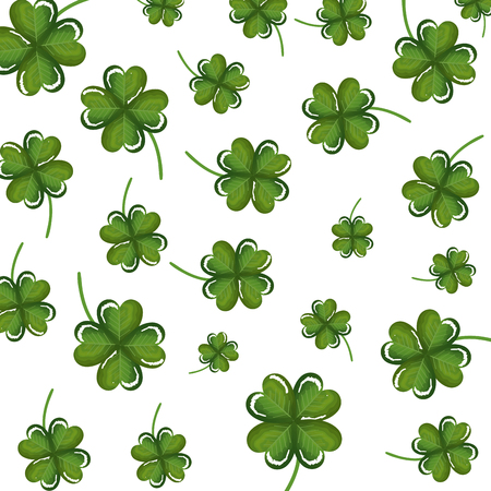 clovers leafs pattern background vector illustration design