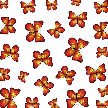 beautiful butterflies pattern background vector illustration design