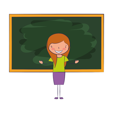 teacher classroom blackboard back to school vector illustration Ilustrace