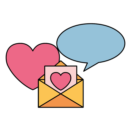 message heart speech bubble valentine day vector illustration Stock Vector - 114241458