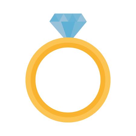 valentine day card wedding ring vector illustration