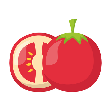 tomato fresh healthy food on white background vector illustration