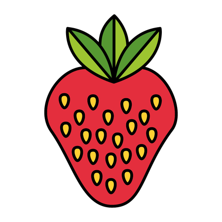 strawberry healthy food on white background vector illustration