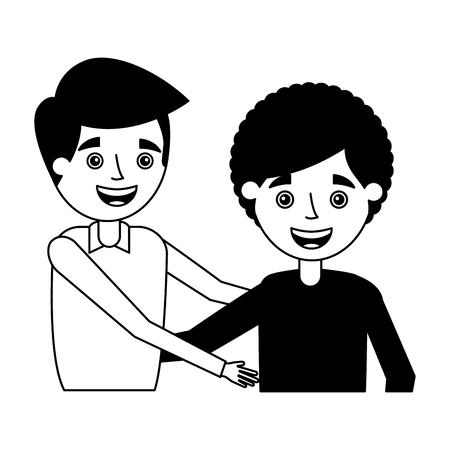 grandmother and grandson embraced family vector illustration Illustration