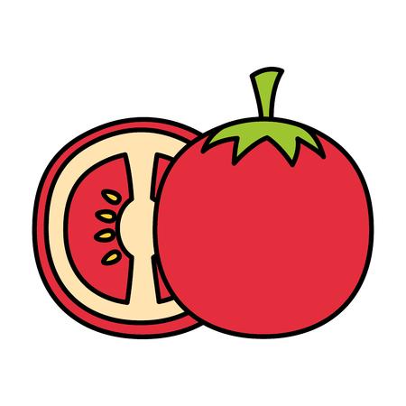 tomato fresh healthy food on white background vector illustration