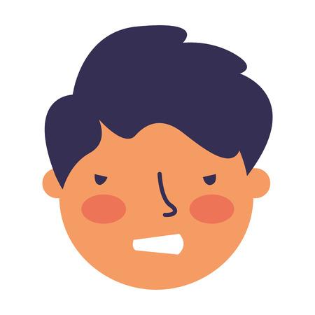 boy face sad expression gesture vector illustration Illustration
