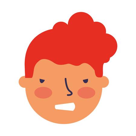 boy face sad expression gesture vector illustration Standard-Bild - 126463060