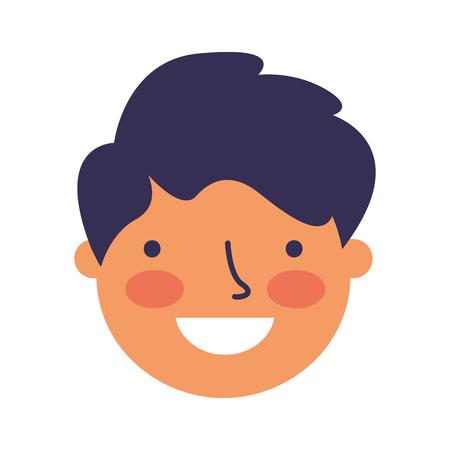 smiling expression boy face happy vector illustration Stock Illustratie
