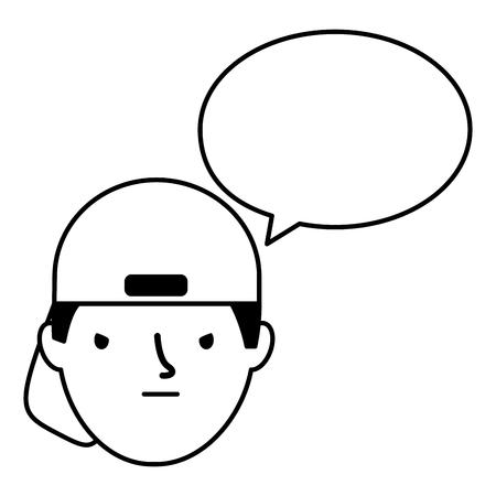 boy face sad speech bubble vector illustration Standard-Bild - 126463098