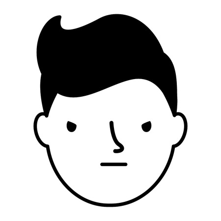 boy face sad expression gesture vector illustration Standard-Bild - 126463099