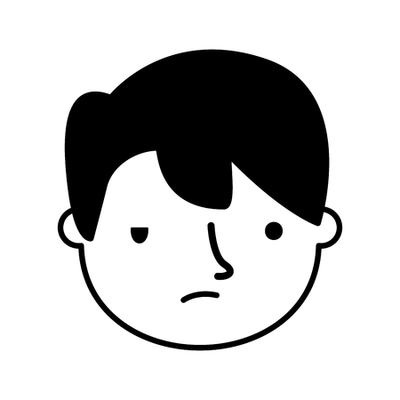 boy face sad expression gesture vector illustration Standard-Bild - 126463115
