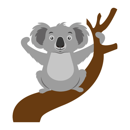 koala animal on the branch vector illustration Ilustração