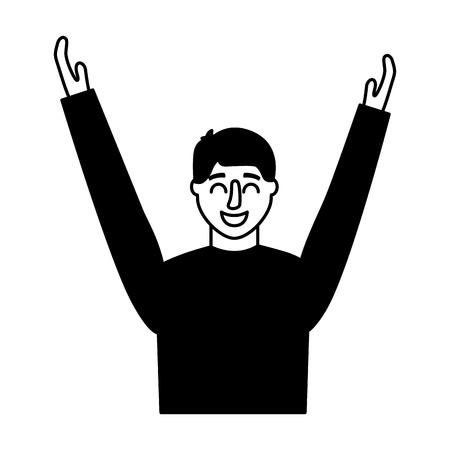 man portrait on white background vector illustration