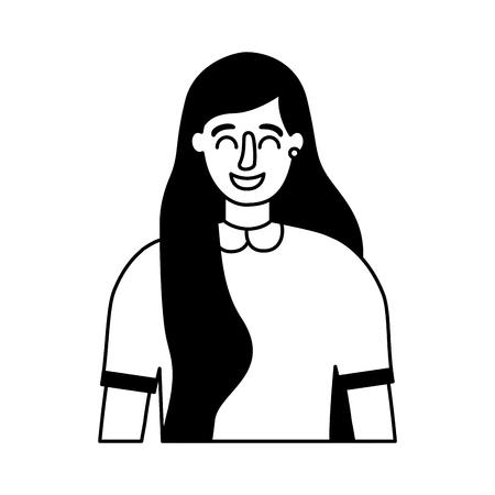 portrait woman on white background vector illustration Stock Vector - 126463211
