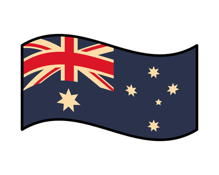australia flag patriotic on white background vector illustration