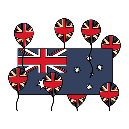 australia flag and balloons decoration vector illustration Reklamní fotografie - 126463274