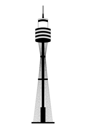 sydney tower architecture landmark australia vector illustration 일러스트