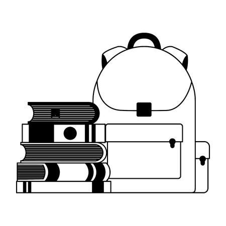 education school backpack and books vector illustration Illustration