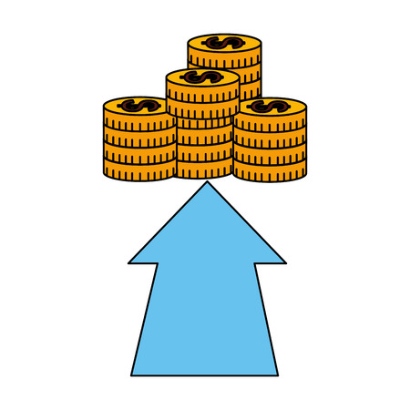business money growth stacked coins vector illustration Standard-Bild - 126463847