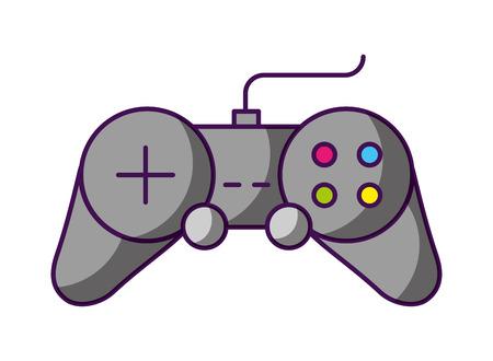 Controller-Videospiel mit weißem Hintergrund-Vektor-Illustration