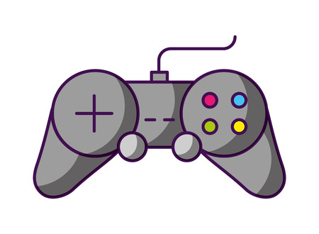 kontroler gier wideo białe tło ilustracji wektorowych