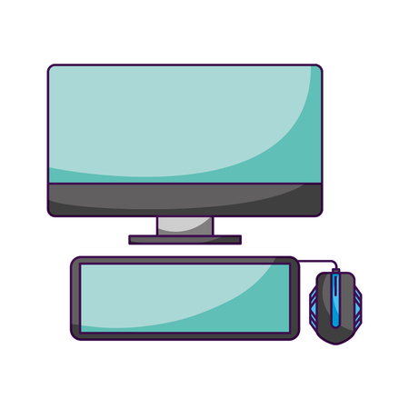 computer keyboard and mouse white background vector illustration Stock Vector - 126463951