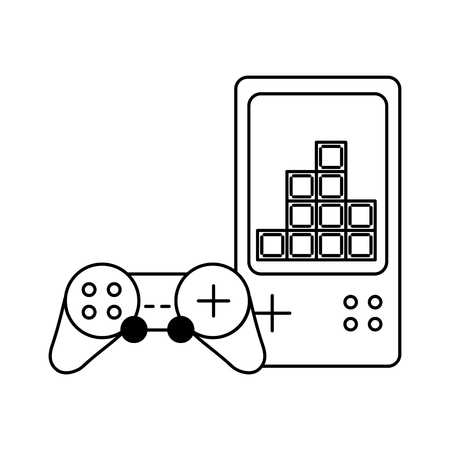gamepad control video game white background vector illustration