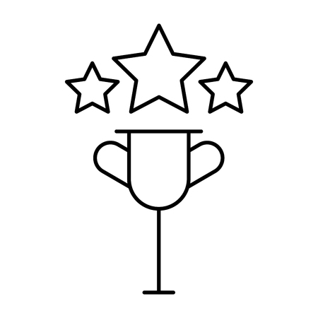 trophy star video game white background vector illustration Ilustrace