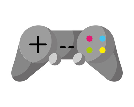 controller video game white background vector illustration 스톡 콘텐츠 - 126464007