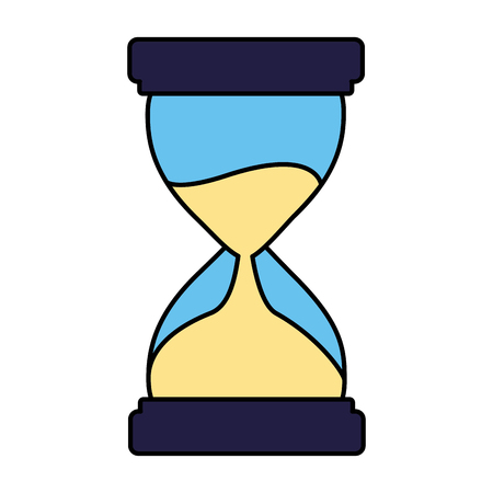 business clock hourglass white background vector illustration