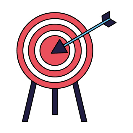 business target arrow strategy white background vector illustration