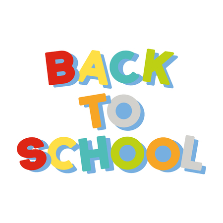 back to school lettering colored vector illustration