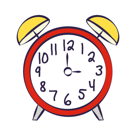 alarm clock supply on white background vector illustration 向量圖像