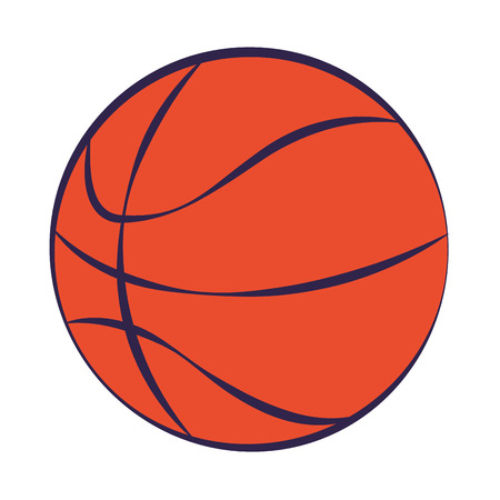 basketball ball sport on white background vector illustration Stock Illustratie