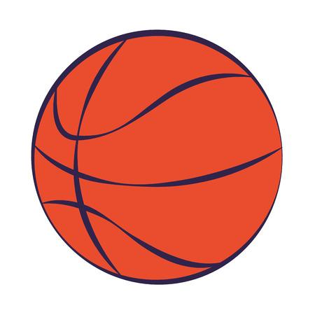 Deporte de pelota de baloncesto en la ilustración de vector de fondo blanco Ilustración de vector